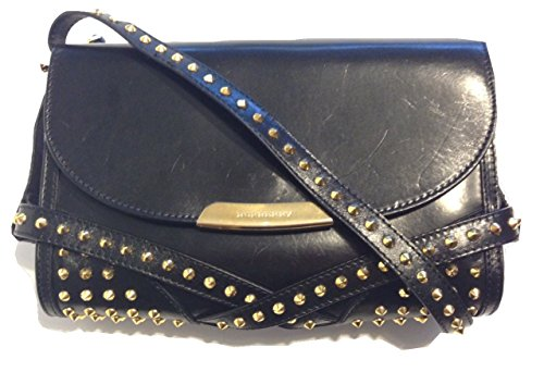 Burberry Bridle Leather Studs Small Abbott Crossbody Black