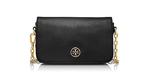 Tory Burch Womens Robinson Adjustable Mini Bag, Black, One Size