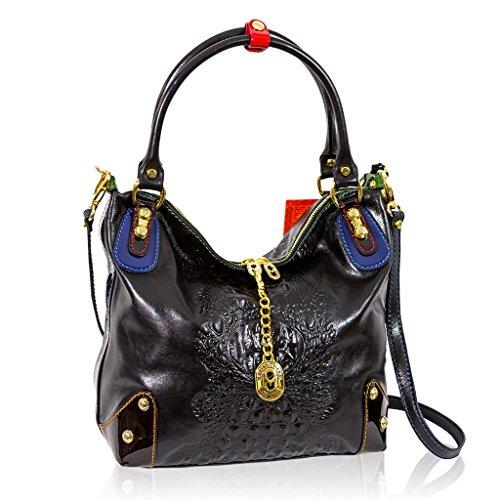 Marino Orlandi Italian Designer Black Alligator Leather Purse Crossbody Bag