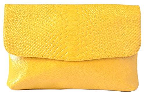 Heshe Hot Sell Leather Crocodile Purse Cross Body Shoulder Bag Clutch Handbag