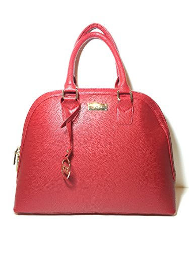 Bcbg Paris Bowler Satchel Bag Red / Gold