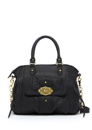 Jessica Simpson Women's Marcelle Satchel, Black, One Size