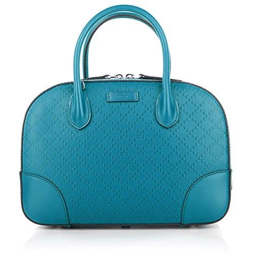 Gucci Bright Diamante Top Handle Bag Turquoise