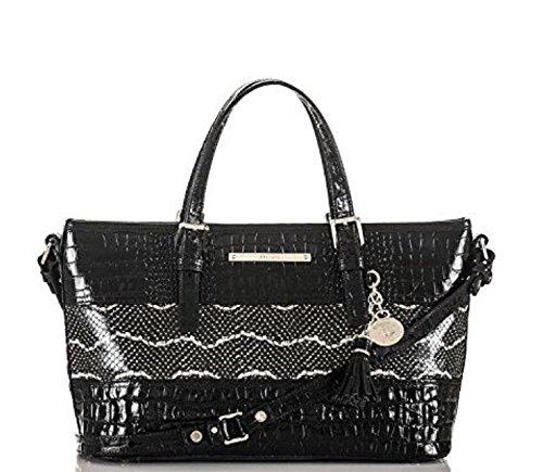 Brahmin Mini Asher Tote Black Mandana J55814 Handbag