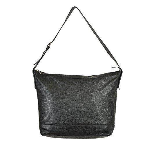 Gucci Unisex Black Leather Shoulder Bag Handbag