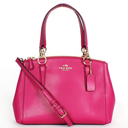 Coach Christie Crossgrain Leather Handbag Pink F36704