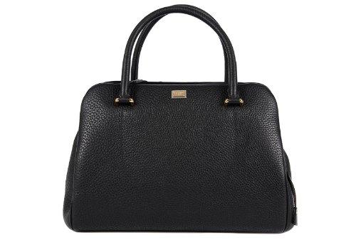 Dolce&Gabbana women's leather handbag shopping bag purse alpaca black