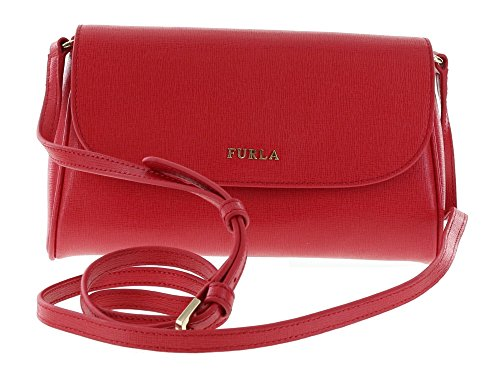 Furla Lilli Saffiano Leather Handbag Purse Crossbody Bag in Ruby (017)