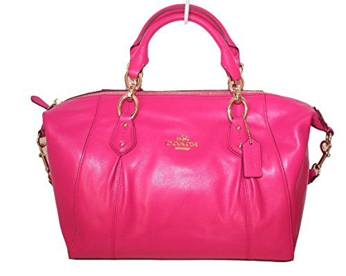 Coach Colette Pink Ruby Leather Satchel
