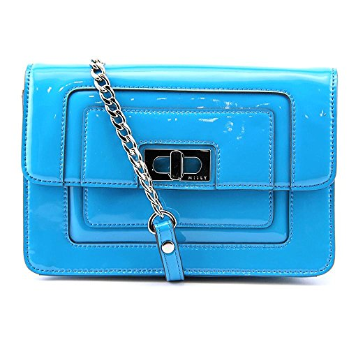 MILLY Madison Patent Cross Body Bag