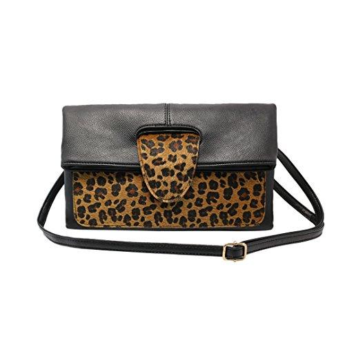 Naimo Newest Women's Elegant Leopard PU Clutch Bag Handbag Tote Bag