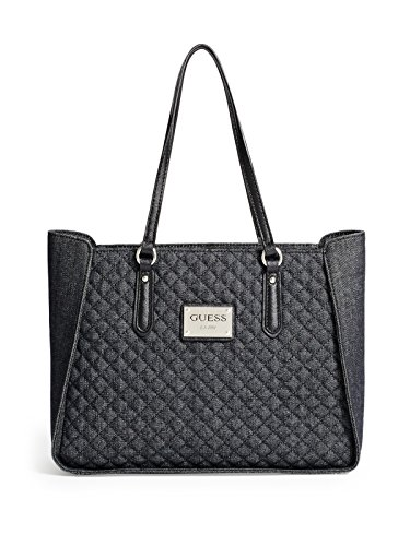 GUESS Women's Pompano Quilted Denim Tote