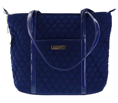 Vera Bradley Small Trimmed Vera Shoulder Bag Handbag Purse Tote in Lapis