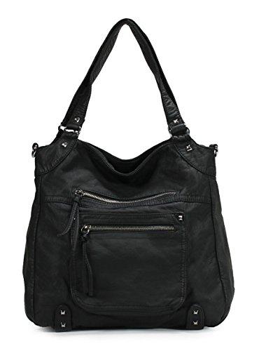 Scarleton Soft Washed Front Multi Pocket Shoulder Bag H1783
