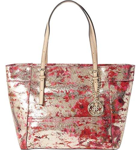 GUESS Women's Delaney Tote Bag, Cherry Multi