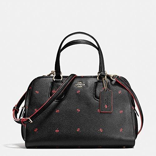 Coach Nolita Satchel Black Floral Print Leather Handbag Bag New