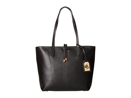 Lauren Ralph Lauren Womens Crawley Unlined Shopper (Black/Black(Gold))