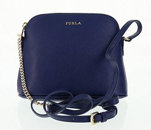 Furla Saffiano Leather Cross-body / Shoulder Handbag in Navy (026)