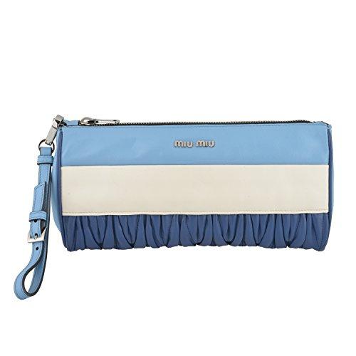 Miu Miu Women's Multi-Color Leather Wristlet Clutch Bag