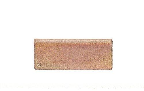 Gucci Broadway Crackled Metallic Leather Clutch Handbag