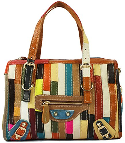 Heshe® Fashion Sheepskin Leather Ladies' Cross Body Shoulder Bag Simple Style Hobo Tote Top Handle Purse Organizer Satchel Handbag for Women