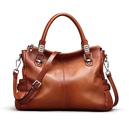 Kattee Urban Style Genuine Leather Tote Satchel Shoulder Handbag