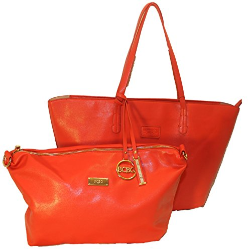 Bcbg Paris Large Zippered Purse and Matching Handbag with Strap