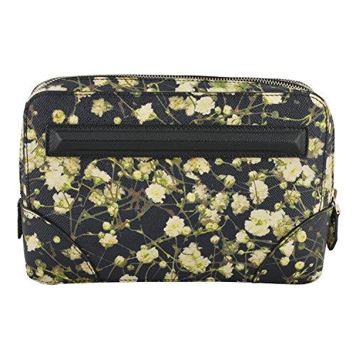 Givenchy Unisex Leather Floral Print Wristlet Clutch Bag