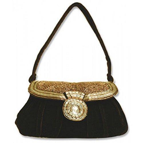 Evening Bag – Beaded – Brown