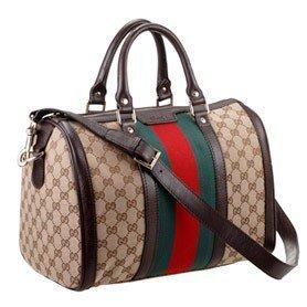 Replica – Gucci Vintage Web Medium Boston Bag