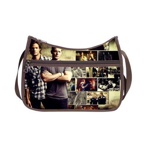 JIUDUIDODO Custom Oxford Fabric Supernatural Custom Classic Hobo Handbag (Twin Sides)