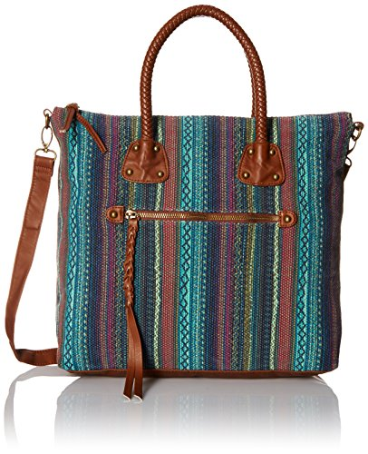 T-Shirt & Jeans Braid Handle Tote Bag, Multi, One Size