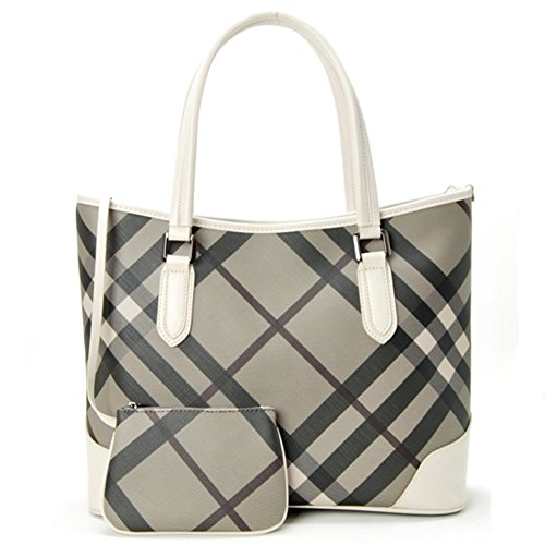 Bagoddess Trendy Luxury Design Lattice Elegent Two-Piece Handbag