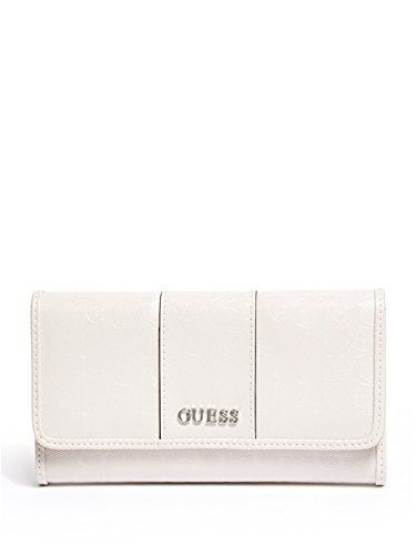 GUESS Women's Glazed Patent Logo Slim Wallet