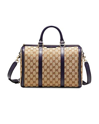 ecbdb5ea4de3ad Gucci Vintage Web Original GG Canvas Boston Bag Handbag, Brown Beige Cocoa