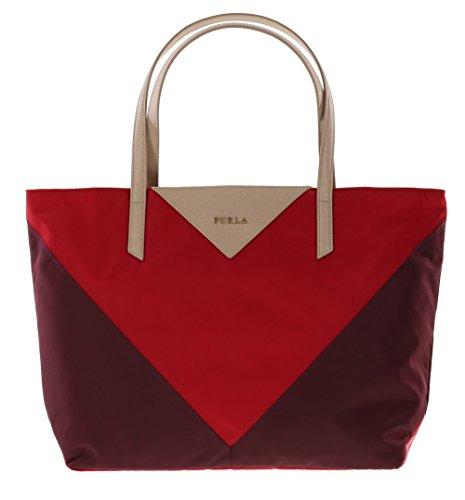 Furla Calypso Shoulder Handbag Tote Purse in Granata+Ruby