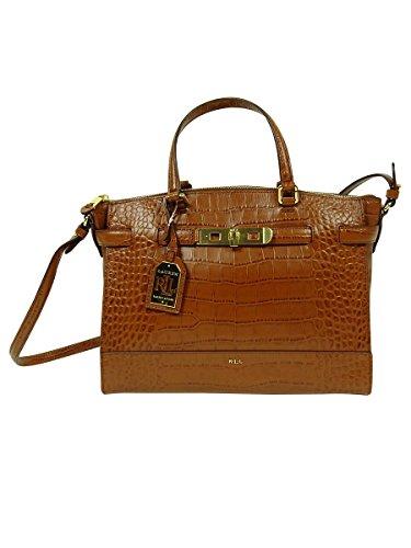 Lauren By Ralph Lauren Women's Handbag Darwin Embossed Croco Leather Satchel