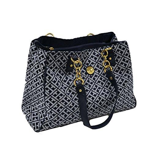 Tommy Hilfiger Womens Shopper Handbag Navy Blue Purse