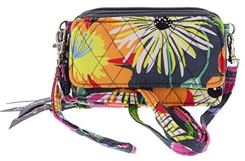 Vera Bradley All in One Crossbody Handbag Purse Wristlet in Jazzy Blooms