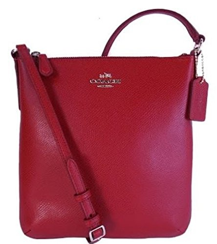 Coach F36063 Crossgrain North South Leather Crossbody Red