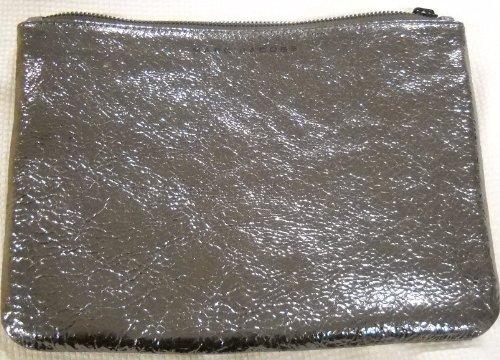 Marc Jacobs NM + Target Metallic Zip Clutch Bag Gunmetal
