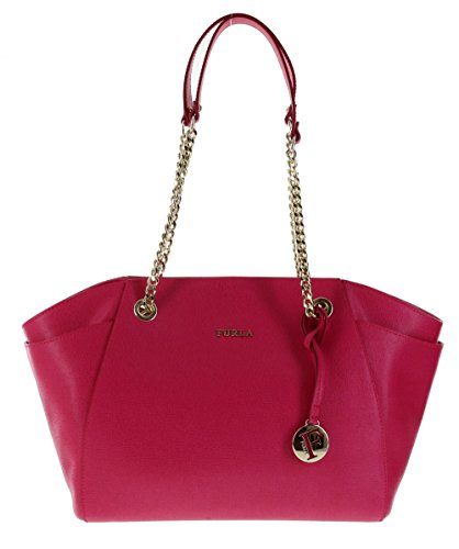 Furla Julia Saffiano Leather Handbag Shoulder Bag Purse in Gloss (030)