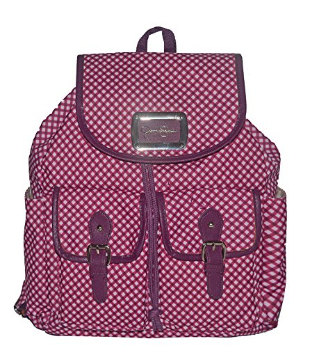 Jessica Simpson Gingham Backpack Tote Handbag Bag Purse Red