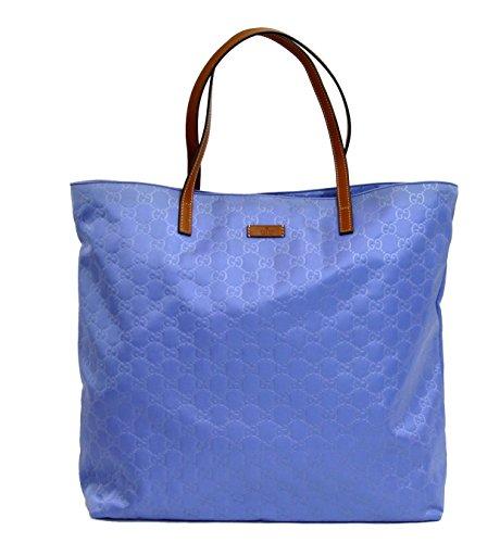 Gucci Blue Guccissima Nylon Handbag Tote Bag 295252 4363
