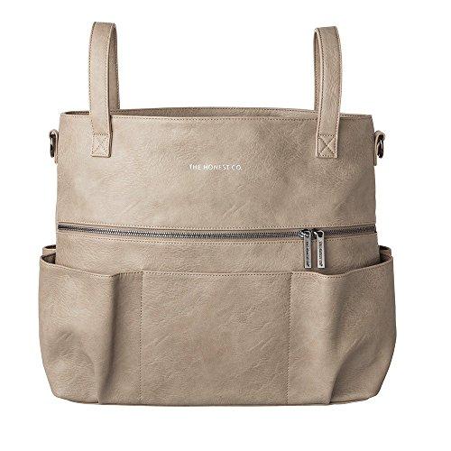 The Honest Co. Diaper Bag Carryall Satchel Elephant Grey