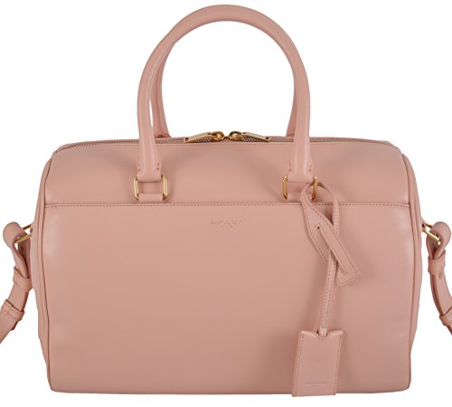 Saint Laurent YSL Women's Blush Pink Classic Duffle Satchel W/Strap