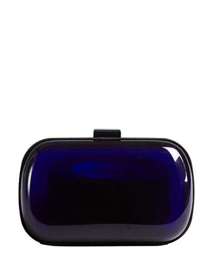 BCBGeneration Women's Cobalt Acrylic 'Morgan Lucite' Minaudiere Clutch
