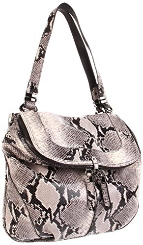 ORYANY Grey Snake Embossed Leather Shoulder Handbag Bag ZP968 NWT