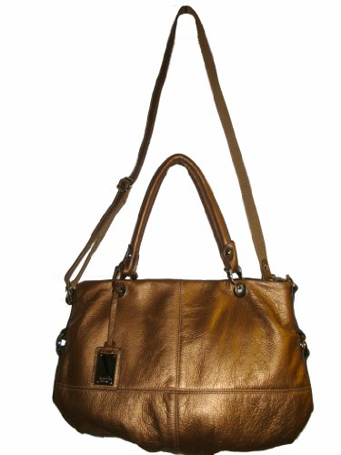 Tignanello Women's Leather Iconic Tote Handbag, Brass