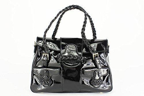 Valentino Black Patent Leather Tote Bag (Mod: B00043-AVN01-0NO) NWT!